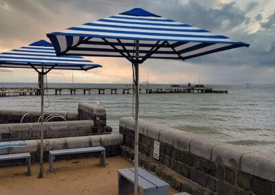 Market Umbrellas Cerberus Beach Sunset