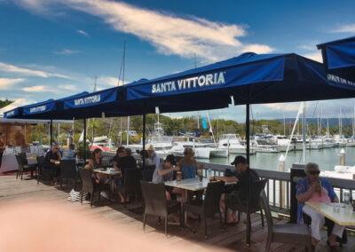 Santa Vittoria Umbrellas Boat Harbour