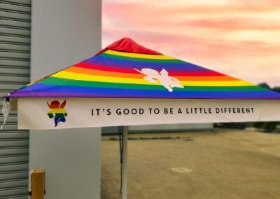 Rainbow Sunset Market Umbrella