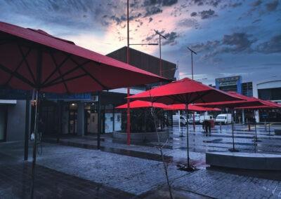 Market Umbrellas Stainless Steel Pole Sunset Rain