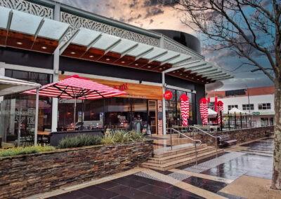 Market Umbrellas Grill'd Wet Sunset
